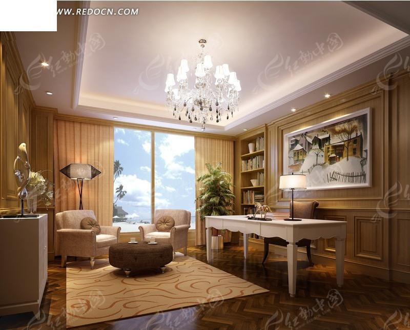 高档酒店套房卧室设计效果图[max]