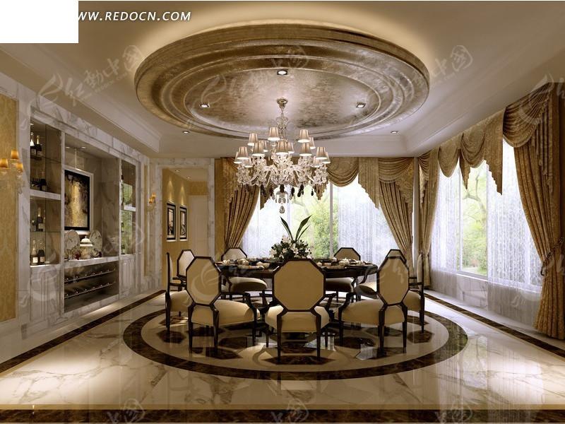 华丽欧式餐厅设计