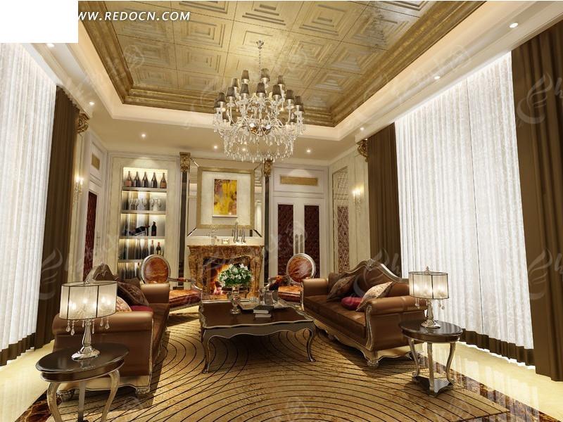 欧式客厅装修设计_室内设计