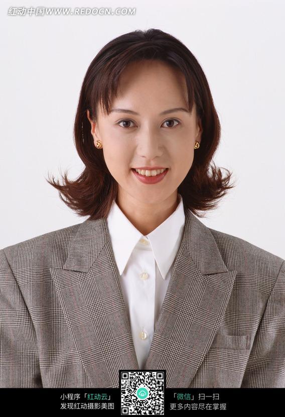 免费素材 图片素材 人物图片 女性女人 微笑职业女士正面半身图  请您