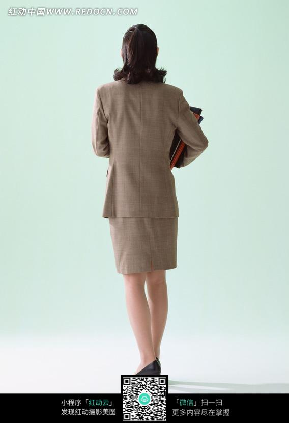 职业女性背面