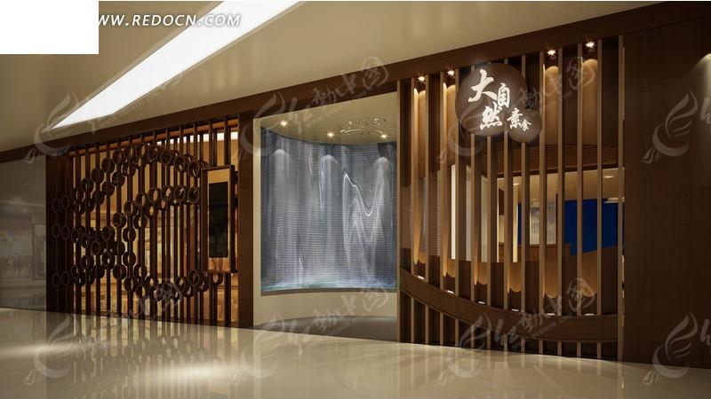 养生馆门面装修设计效果图图片