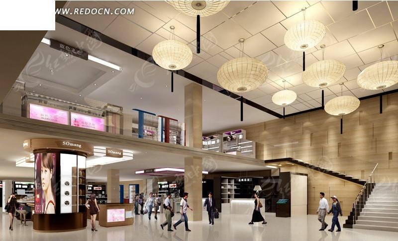 大型商场大厅装修效果图