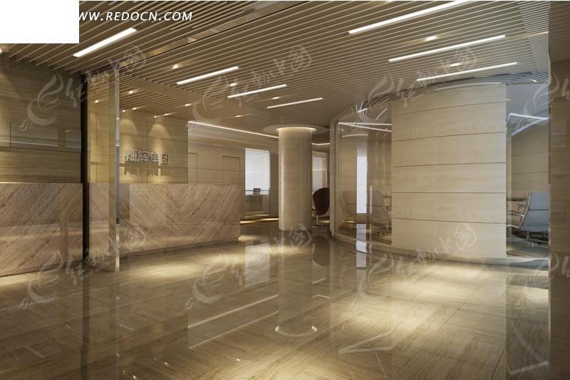 豪华酒店大厅装修设计效果图图片