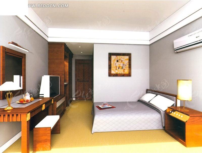 商务酒店标准客房设计效果图