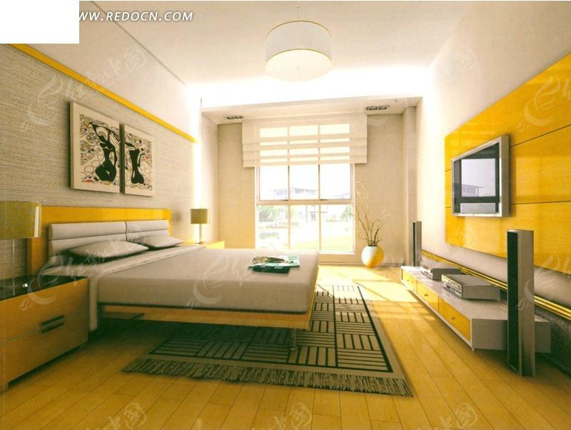 公寓客房装修设计效果图图片
