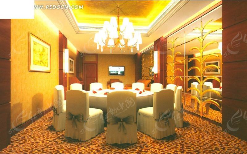 免费模型3d餐厅3d原则室内设计a模型的包厢素材装修效果图请您素材的广告设计图片