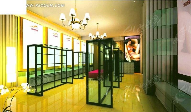 典雅产品展示厅装修设计效果图