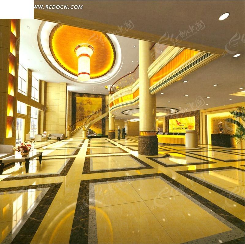 欧式金碧辉煌大堂效果图 金碧辉煌宴会厅效果图 中式古典金碧辉煌大厅