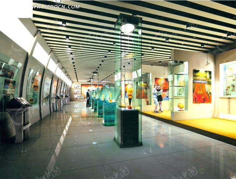 简洁宽敞的产品展示厅设计效果图