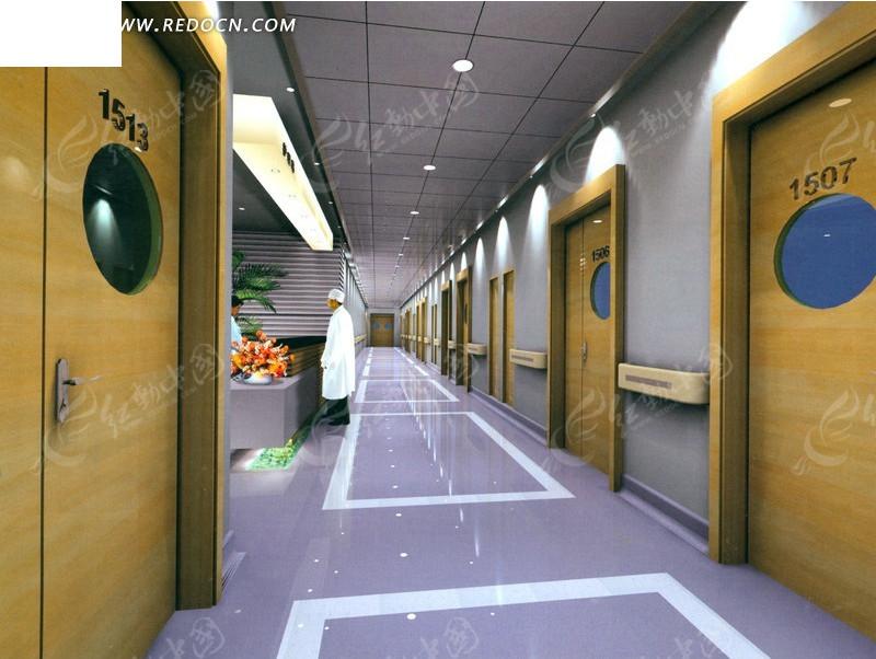 华丽的医院走道设计效果图图片高清图片