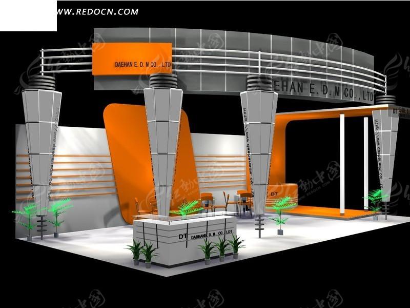 3d设计模型 三维设计 展厅 展示 展示设计 展位 展会 立体建筑 室内