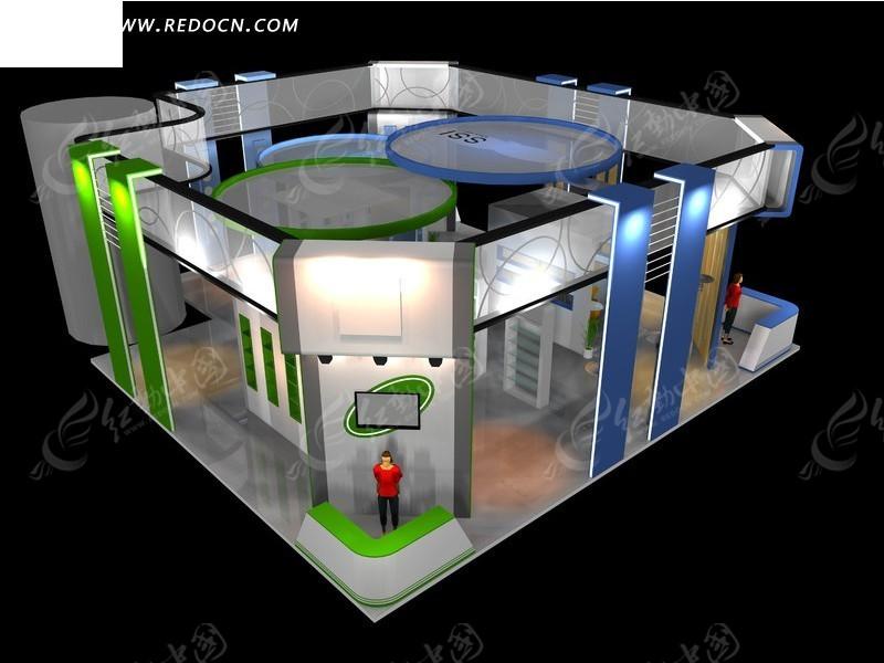 创意华丽商业展示厅设计模型