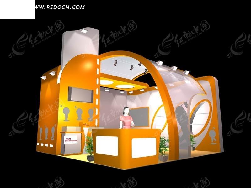 橙色创意商业展厅设计图片