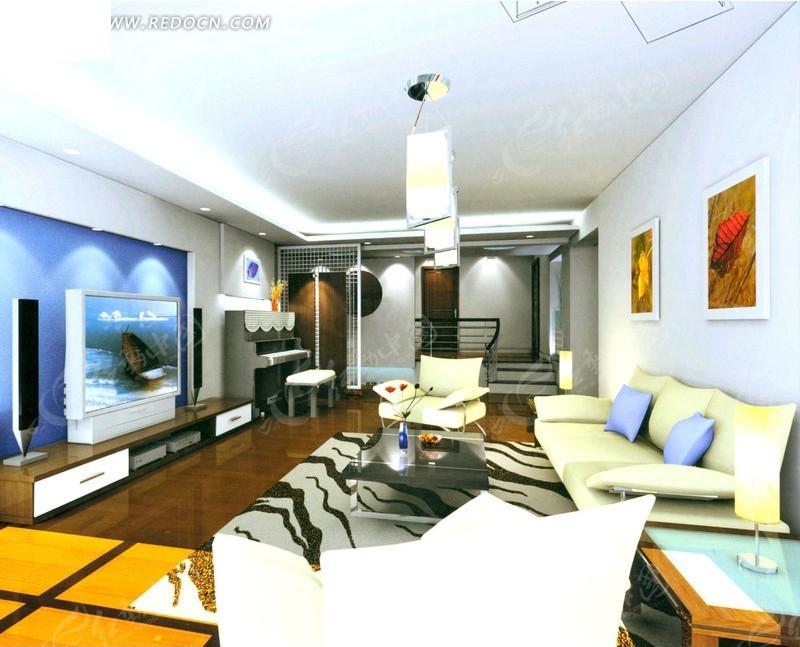 客厅3dmax室内设计图片