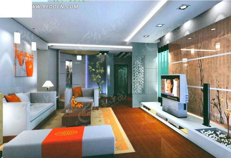 创意简约客厅设计效果图