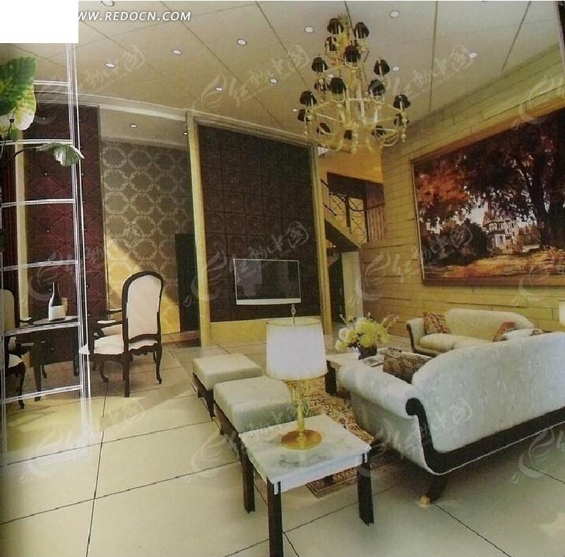 欧式客厅_室内设计