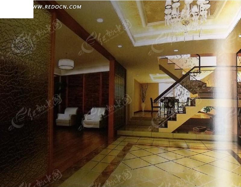 欧式复式楼客厅设计3d效 复式楼客厅设计3d效果图 精装复式楼客厅设计图片