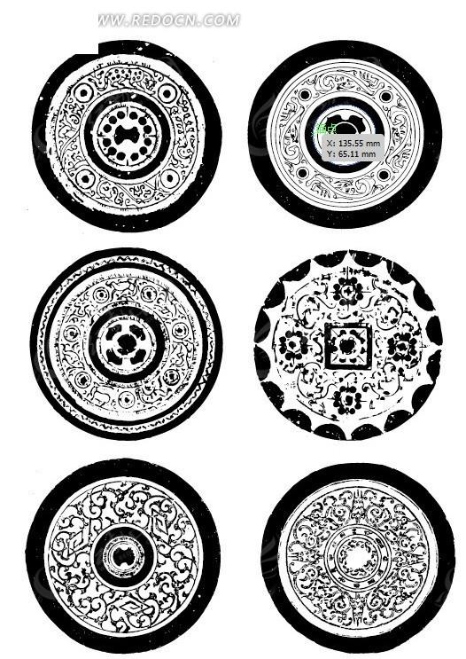 中式 花纹 线稿 吉祥图片