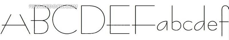 服饰英文字体设计 英文字体艺术字 26个英文字母字体设计 英文字体