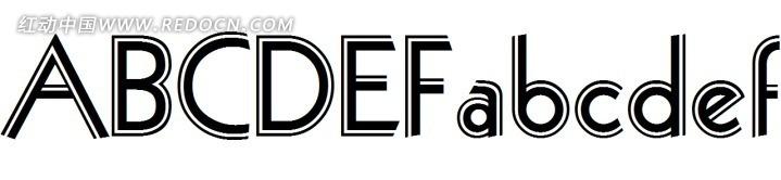 三角形26个英文字母字体 a-z英文半点纹字体设计矢 a-z26个英文艺术