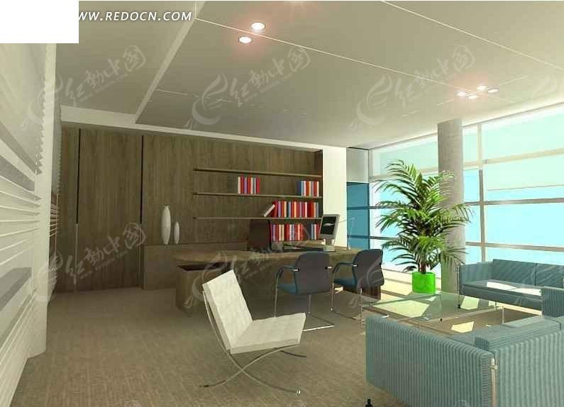 免费素材 3d素材 3d模型 室内设计 高层领导办公室3d效果图  请您分享图片