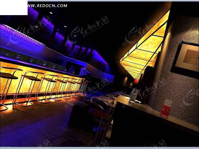 创意酒吧吧台设计效果图