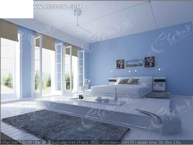 3dmax室内客厅和卧室效果图 交作业用 高清图片