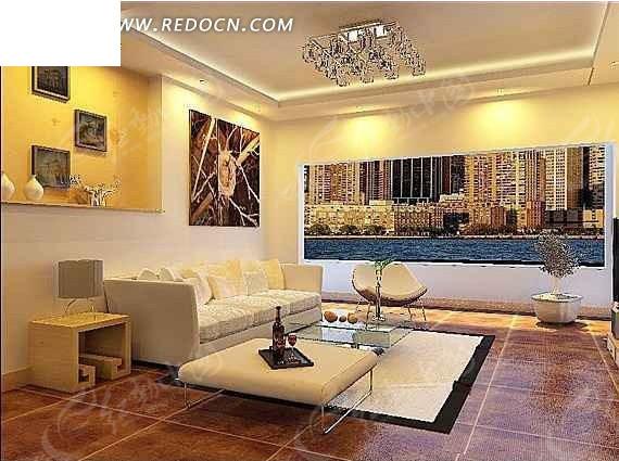 创意华丽客厅装修设计效果图