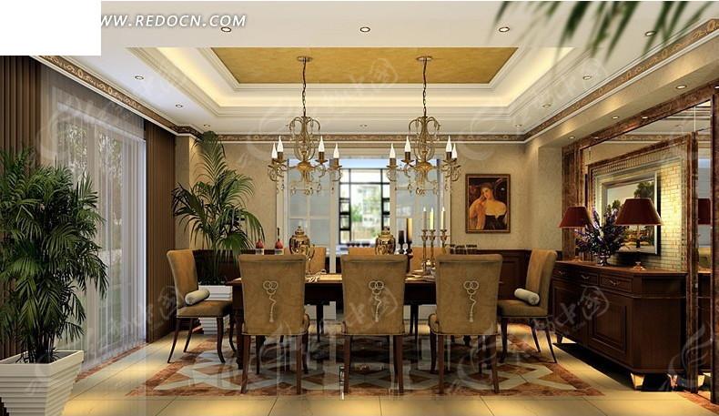 高档别墅餐厅拍摄_室内设计