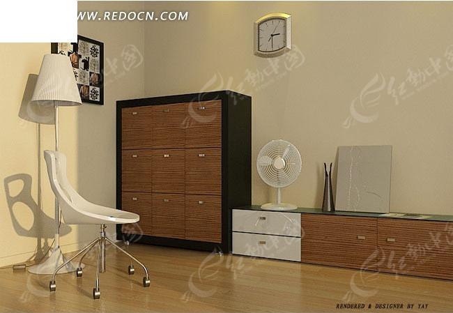 免费素材 3d素材 3d模型 室内设计 卧室一角3d效果图  请您分享: 红动图片