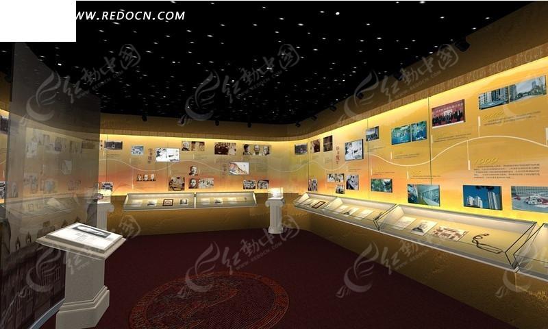 大型展厅3d效果图_室内设计