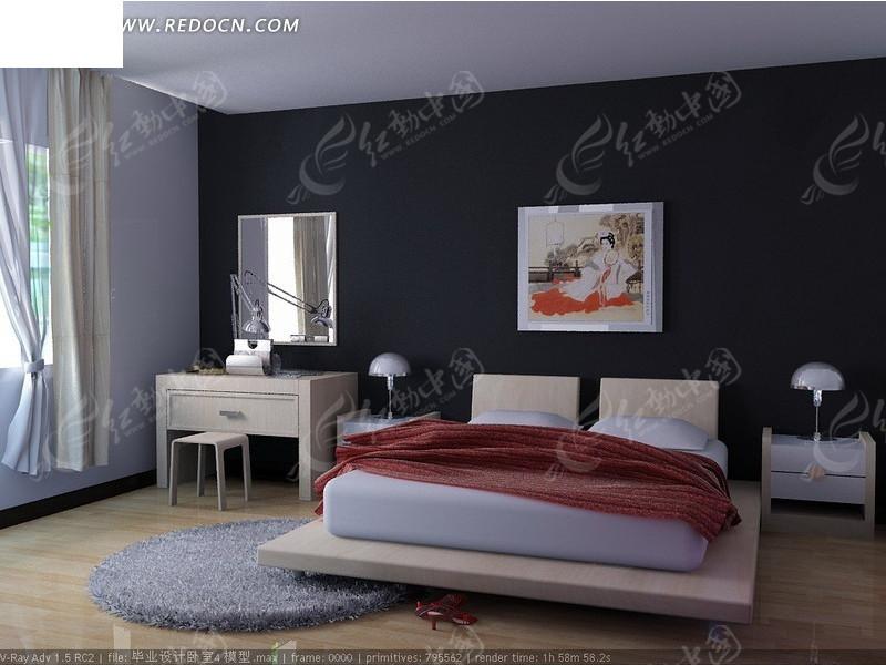 简约卧室装修设计效果图图片