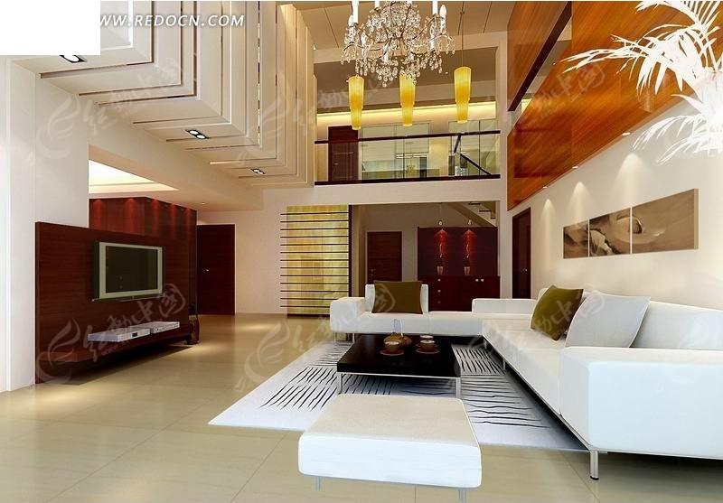 楼中楼客厅装修设计效果图