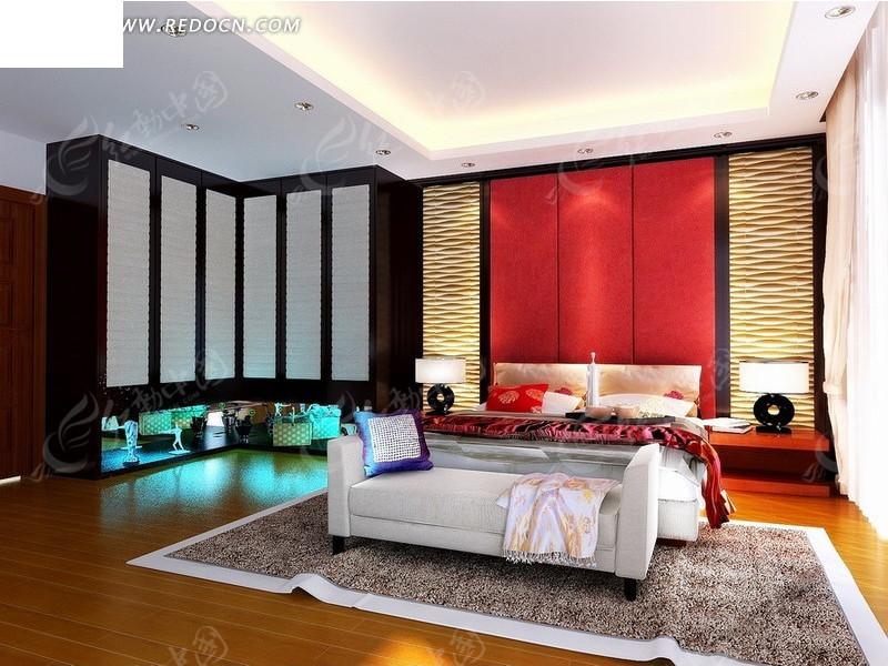 西式豪华贵族卧室室内装 豪华卧室室内装饰设计效 高档豪华卧室设计3d