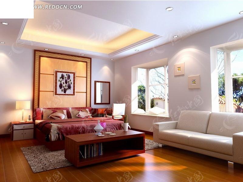 现代客厅室内设计3dmax效果图