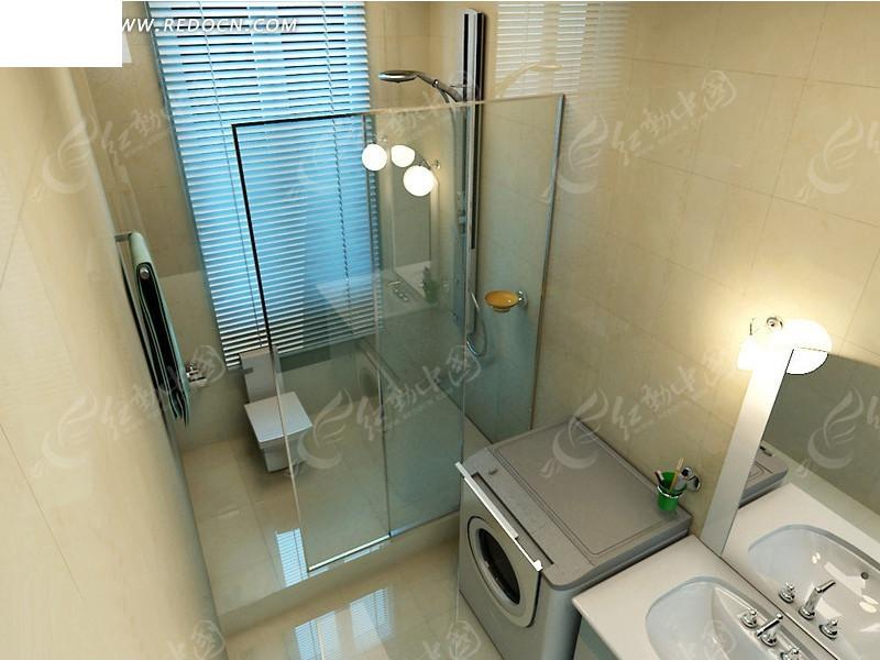完整卫生间3dmax模型_室内设计图片