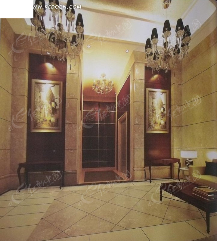 欧式豪华电梯间3dmax模型图片图片