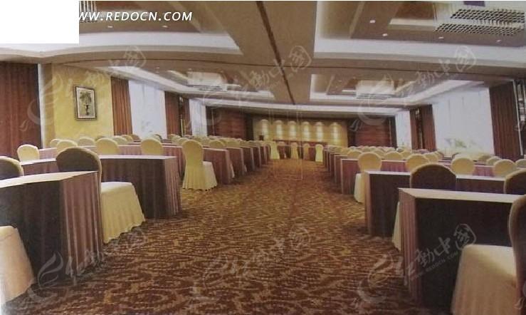 大酒店大餐厅设计3d效果图