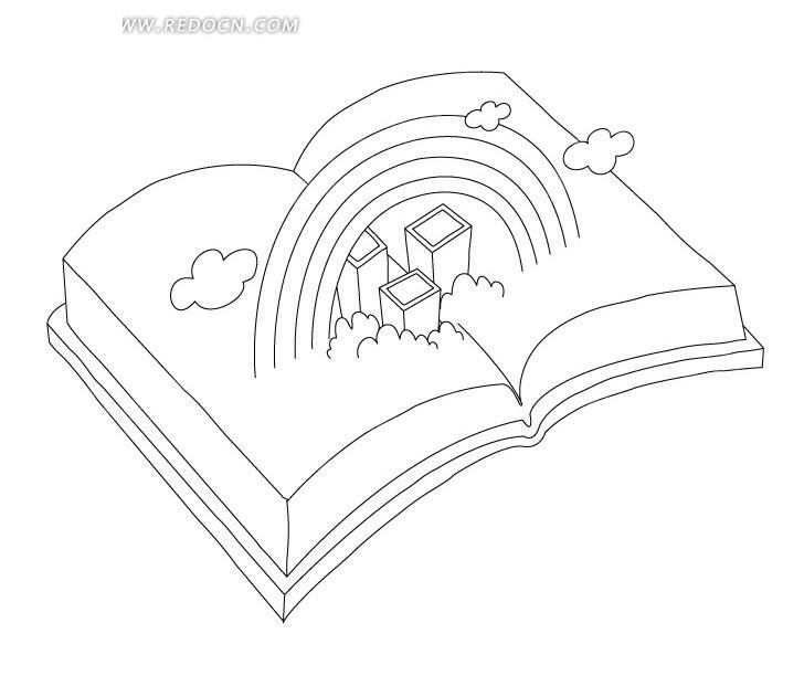 书本图书创意手绘