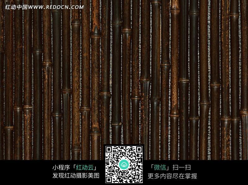 竖着编织在一起的竹子图片