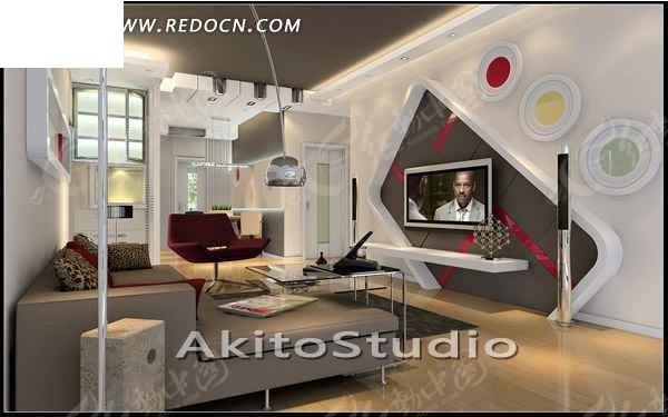 淡雅的白色系客厅3d效果图 max图片 高清图片