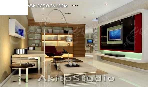 时尚大方的客厅3d效果图 max图片 高清图片
