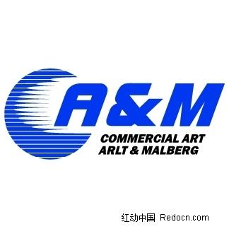 英文标志模板矢量素材 粉红色英文标志设计矢量 英文标志矢量素材 a&m