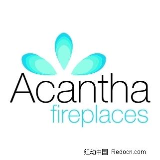 acanthafireplaces英文标志
