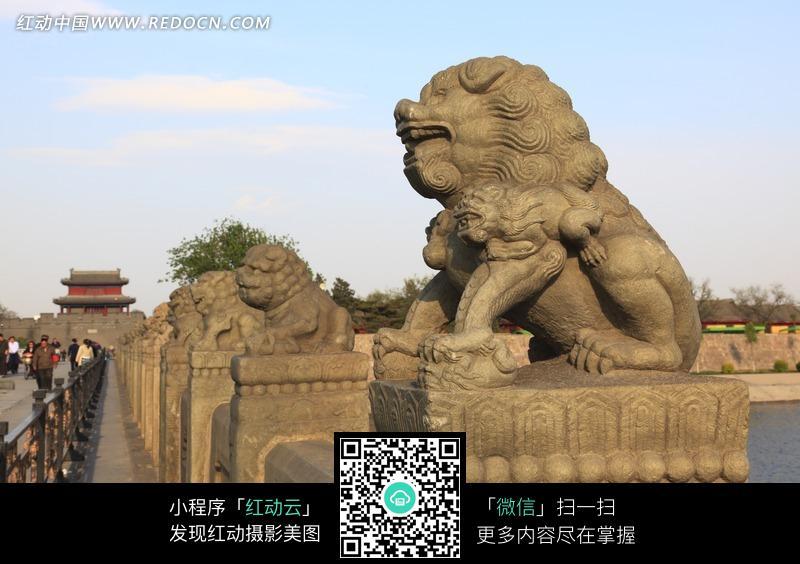 北京卢沟桥上的石狮子图片图片