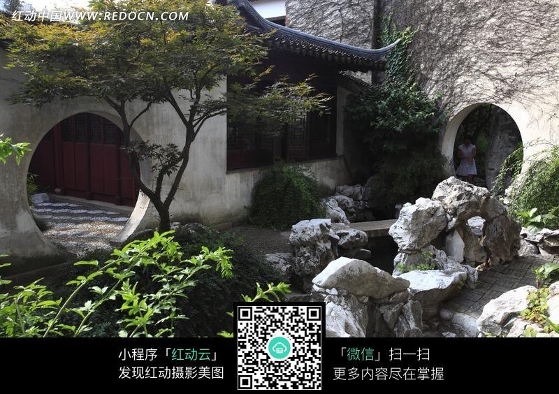 古代建筑中别致的庭院