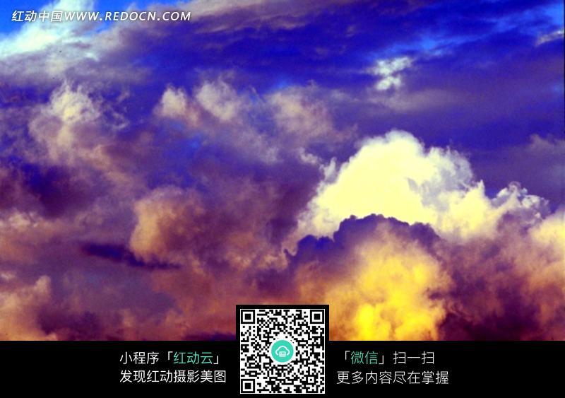 免费素材 图片素材 自然风光 自然风景 空中的五彩云朵