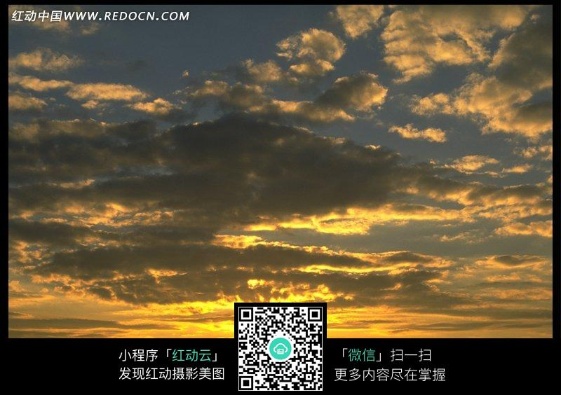 免费素材 图片素材 自然风光 自然风景 美丽的夕阳和天空中的云朵