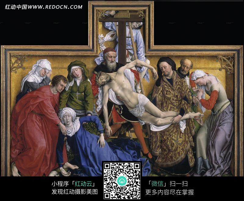 死亡的基督耶稣油画图片